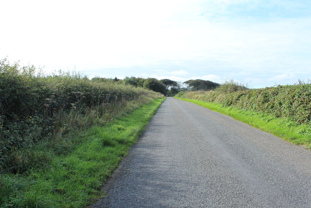 Road leading to the Stoneykirk Road near Pot Wood