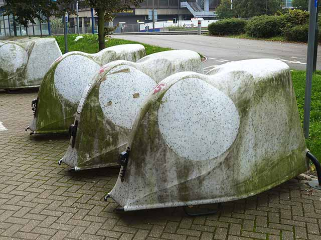 Cycle pods at Gatwick Airport