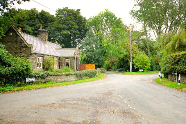 Junction of Sandy Lane, Lathom Lane and Castle Lane