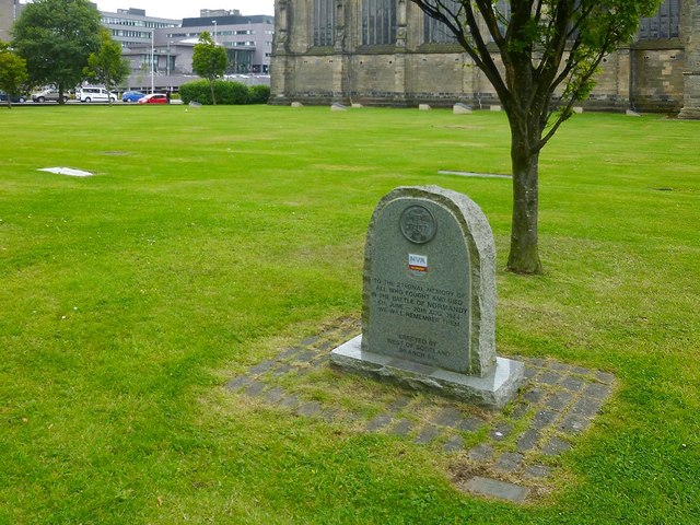 War memorial near Paisley Abbey