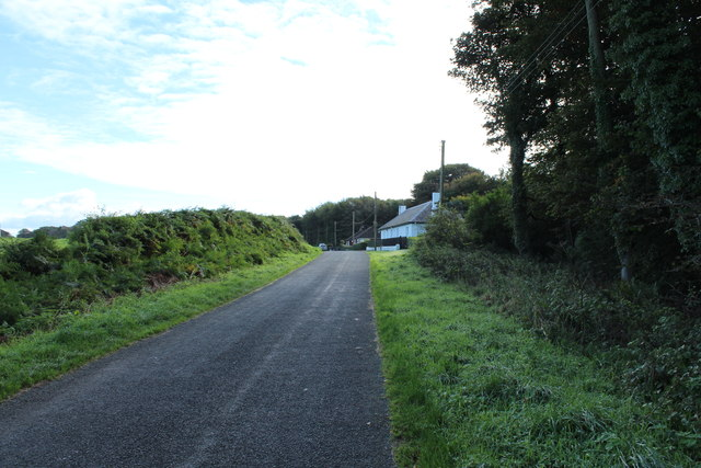 Old Military Road towards Castle Kennedy
