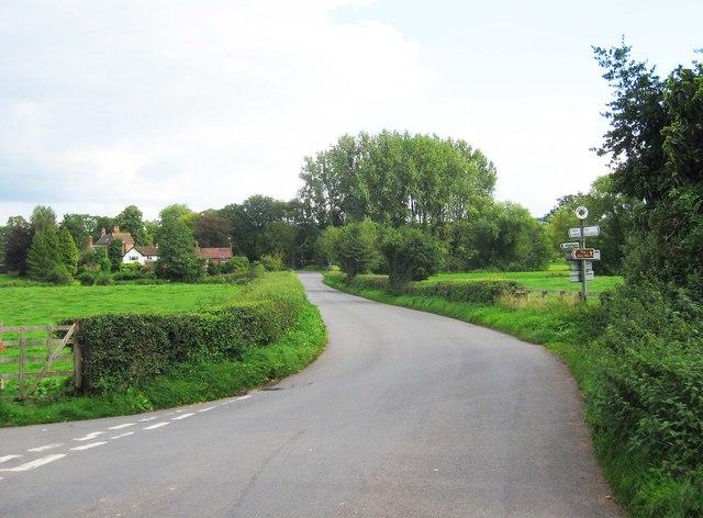 A minor road at Worfield, Shrops