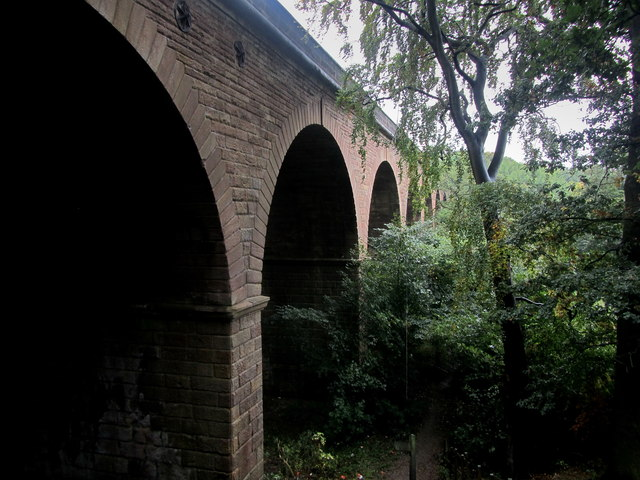 Disused Viaduct spanning the River Crimple