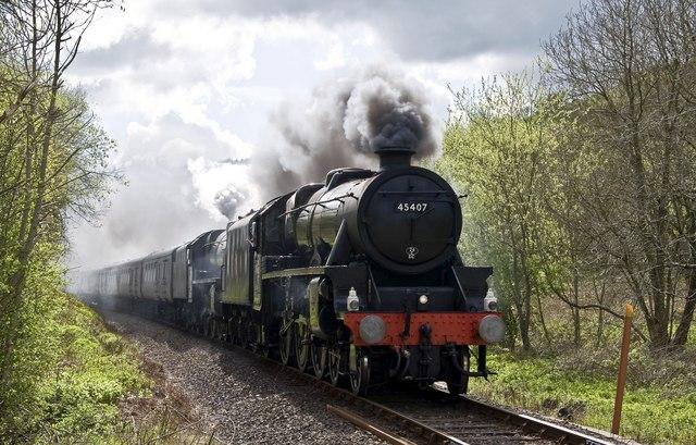 Steam near Knucklas