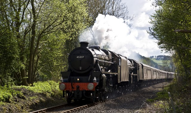 Steam near Knighton