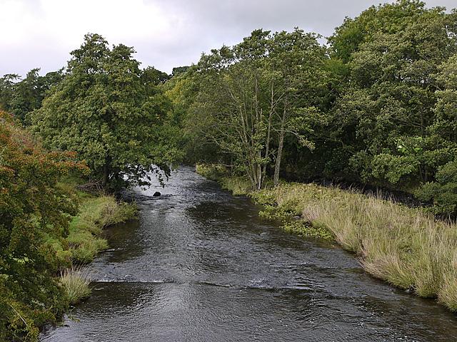 The River Lowther below Rosgill bridge