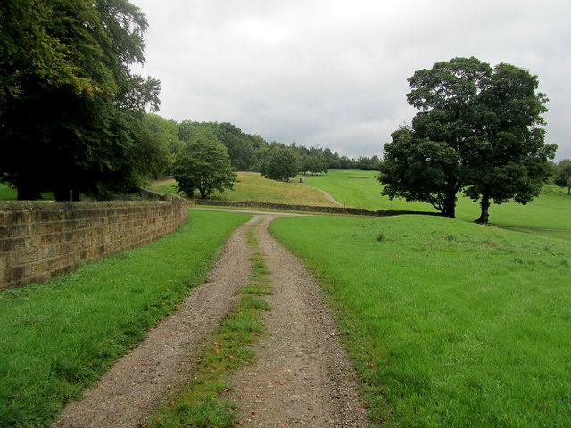 Track beside Rudding Park Golf Course