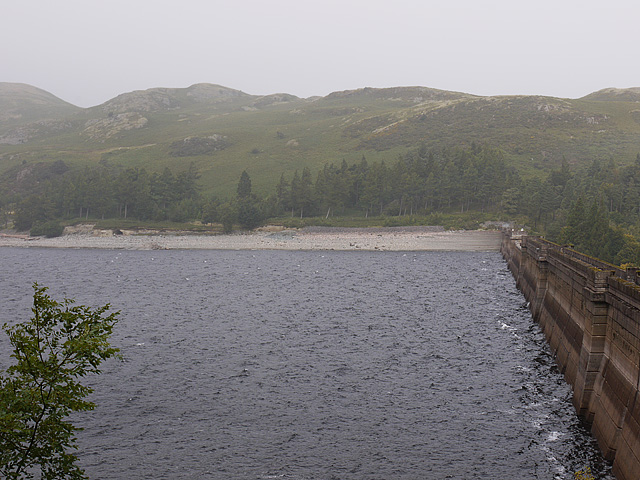 Haweswater dam and reservoir