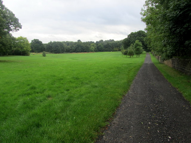 Track beside The Carrs