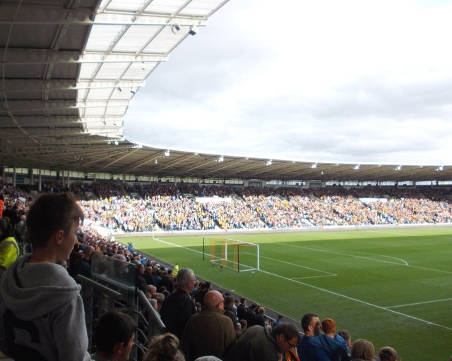 View from The North Stand, KC Stadium, Hull