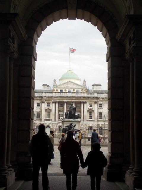London: approaching Somerset House