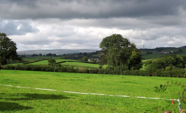 Countryside west of Denbury
