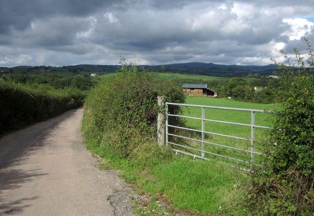 Gate by Heathfield Road, Denbury