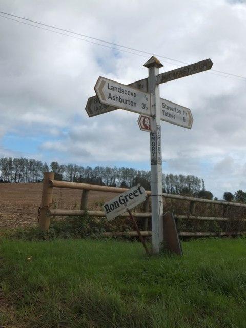 Signpost at Memory Cross