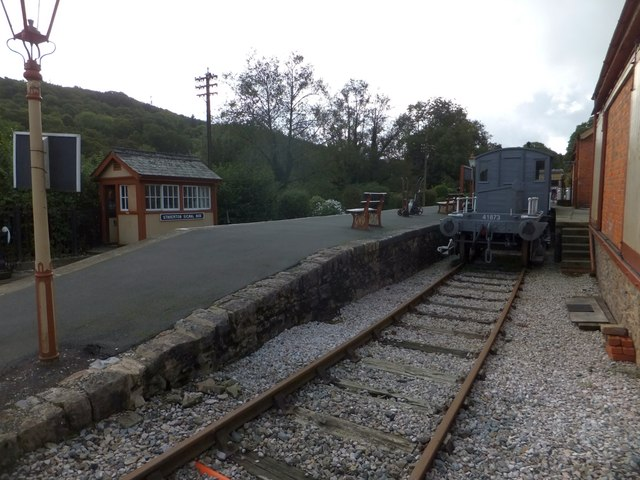 Staverton station on the South Devon Railway