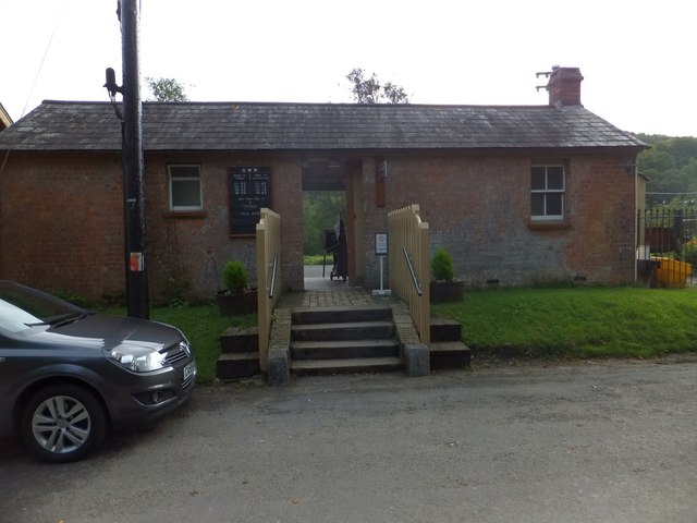 The booking office, Staverton station
