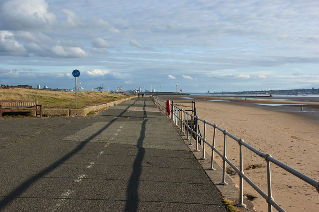 The promenade walk at Crosby