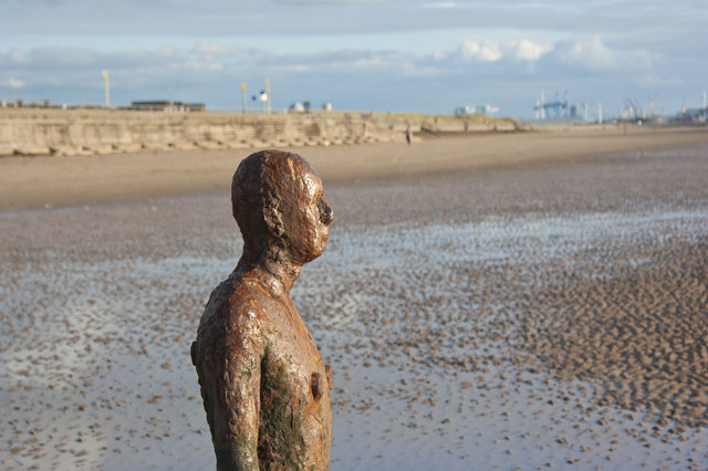 Antony Gormley looking a little the worse for wear