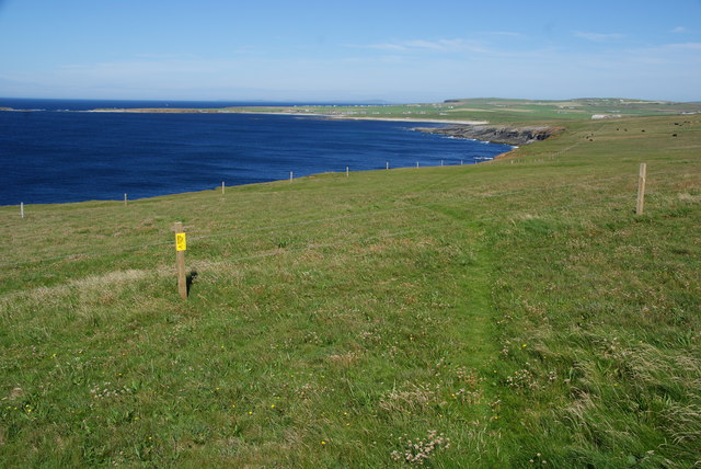 Coastal path above Latha Skerry