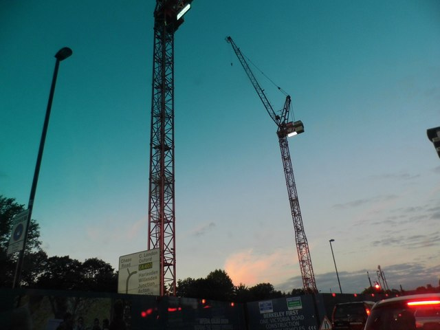 Cranes on Victoria Road, Park Royal