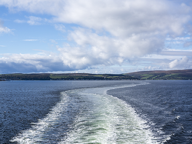 A view towards the island of Bute