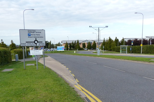 Road at East Midlands Airport