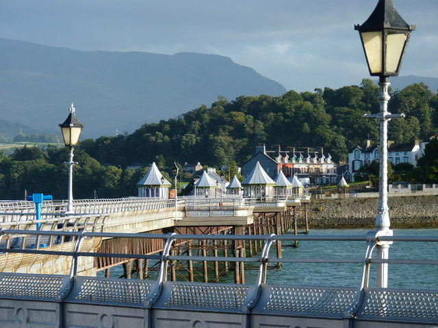 Bangor Pier with Snowdonia beyond