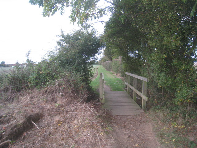 Footbridge on the path from Fiskerton to Reepham