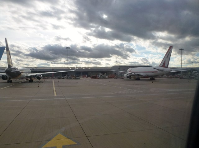 Freight aircraft at Stansted Airport