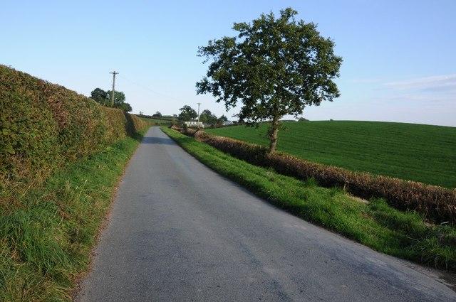 Country road near Berth-Fawr