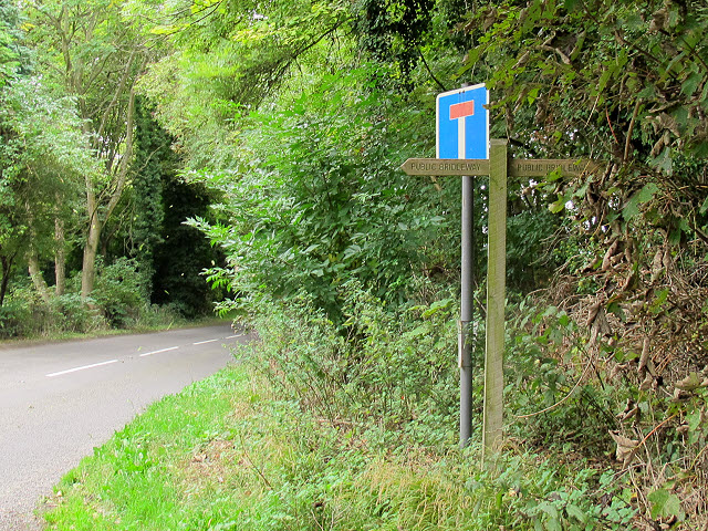 Bridleway sign for Crossways Lane