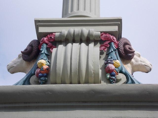 Rochester: rams on Rochester Bridge