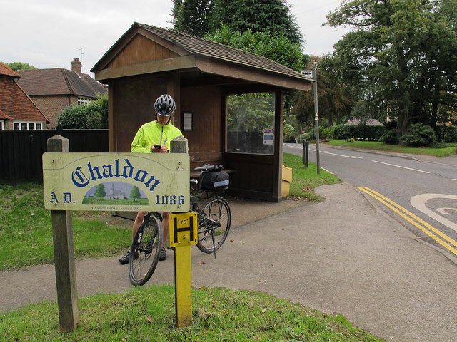 Bus shelter on Rook Lane, Chaldon