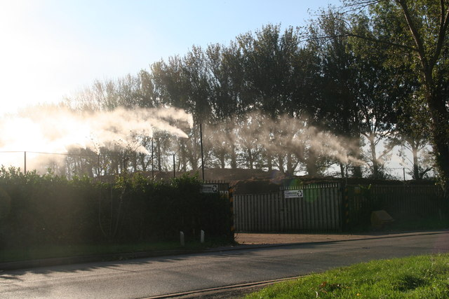 Atomised water spray at ClarkeSon Recycling