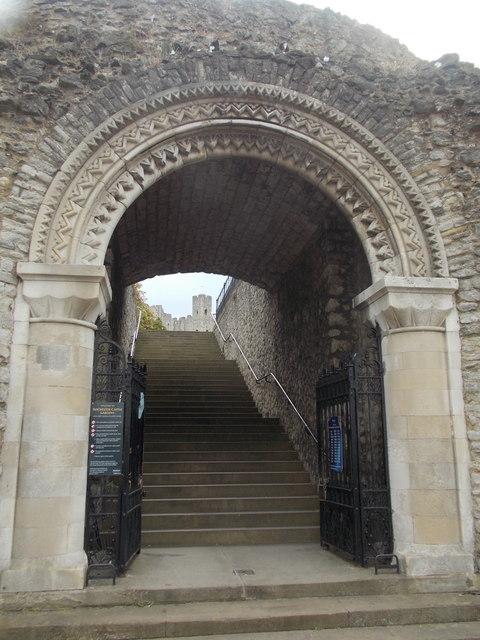 Rochester: northwest castle entrance