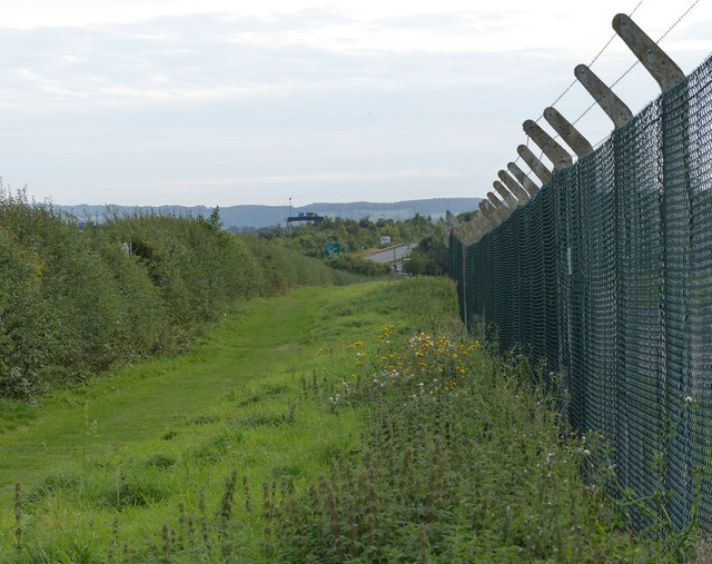 Eastern perimeter fence at East Midlands Airport