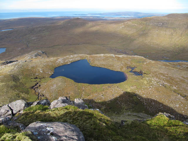 Looking down on Loch a' Mheallain