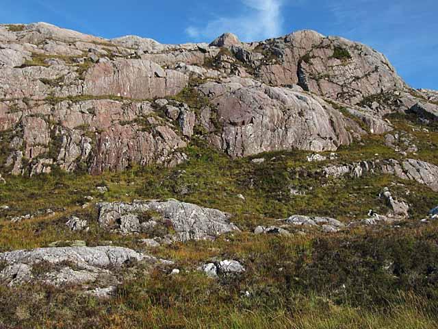 Torridonian sandstone cliffs