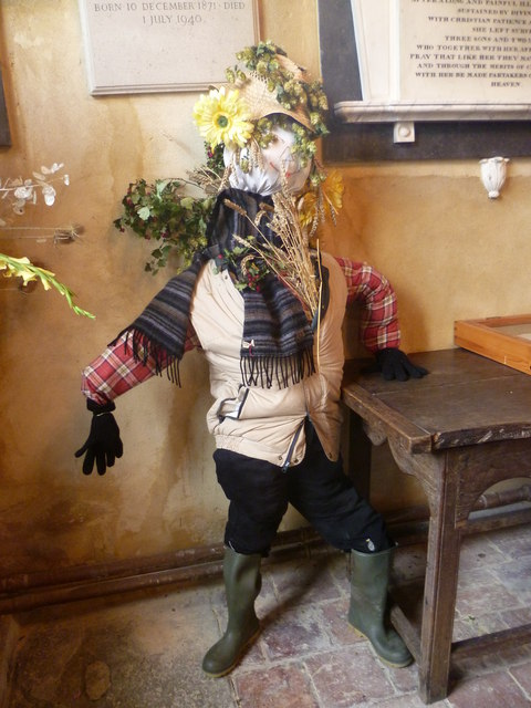 Scarecrow at All Saints Church, Biddenden