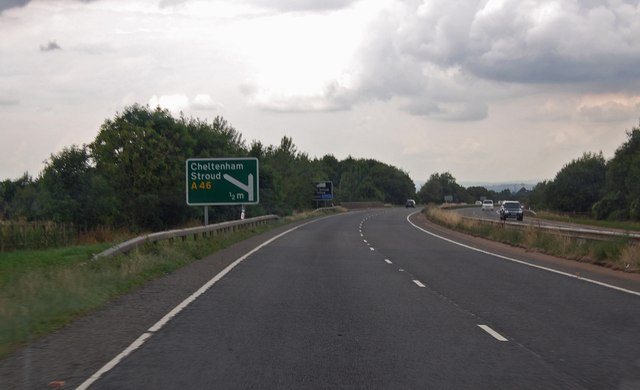 A417  half mile to A46 junction