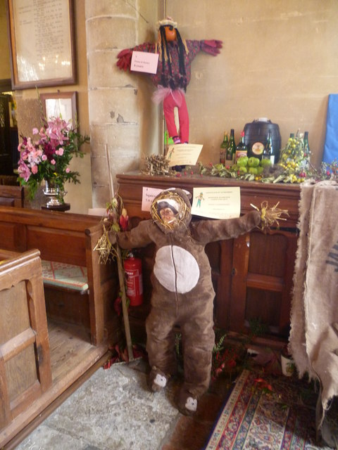 Scarecrows at All Saints Church, Biddenden