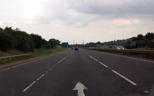 A417 junction with M5 ahead