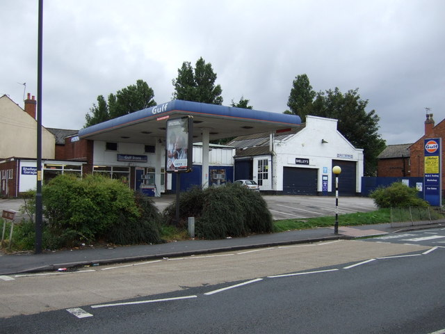 Service station on Walsall Road