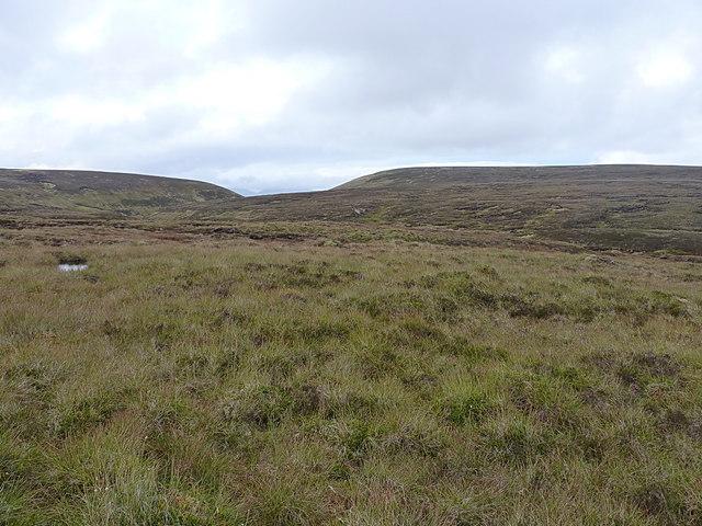 Marshy moorland above the Allt Damh Dubh