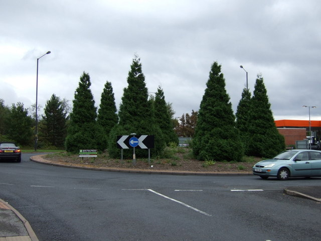 Roundabout on Reedswood Way