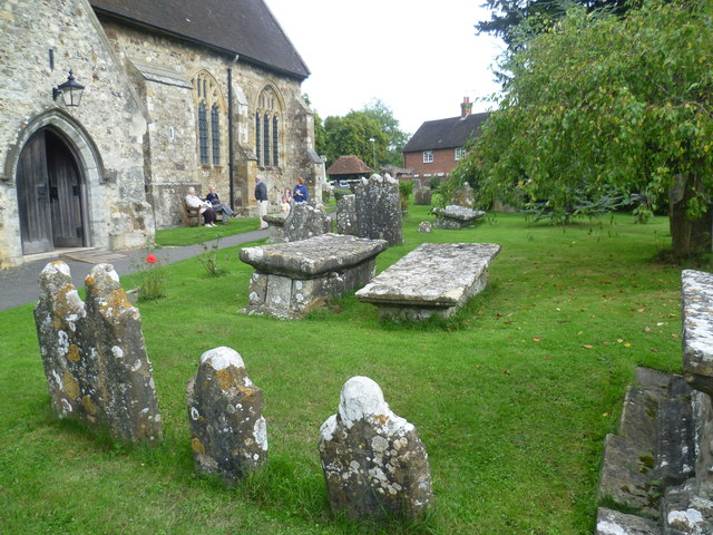 In the churchyard of All Saints, Biddenden
