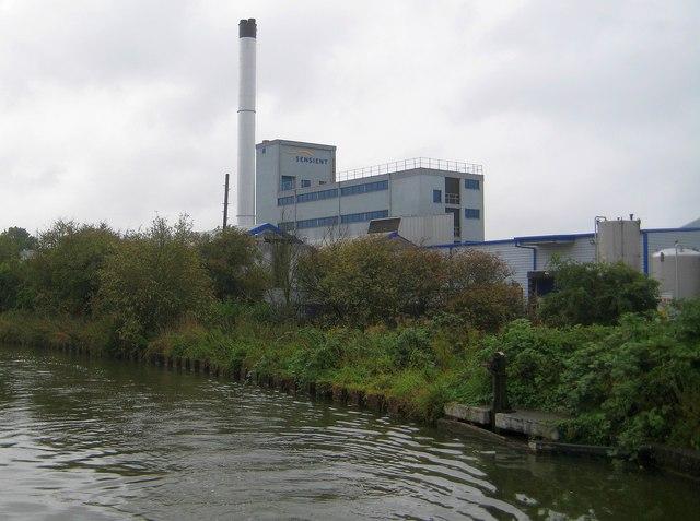 Fenny Stratford: Sensient factory and chimney