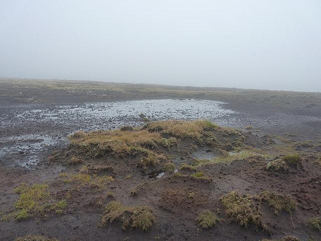 Peaty ground high on Druim na' Fèitheachan Odhar