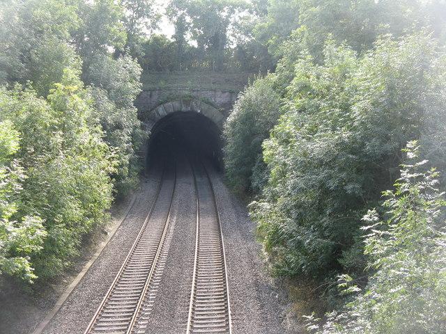 North portal of railway tunnel at Newnham
