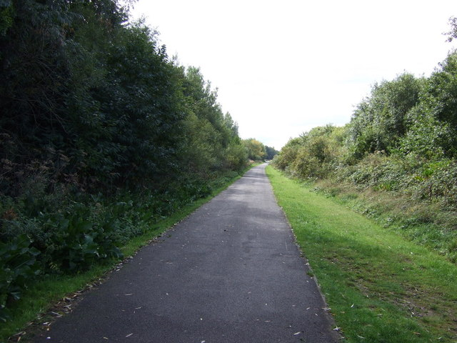 Cycle track on disused railway